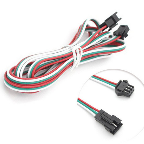 3pin jst sm2 54mm male to female led light plug 1m cable extension